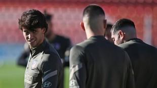 Joao Félix, en un entrenamiento del Atlético.