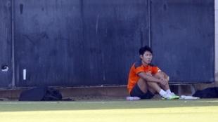 Kangin Lee en la Ciudad Deportiva de Paterna.