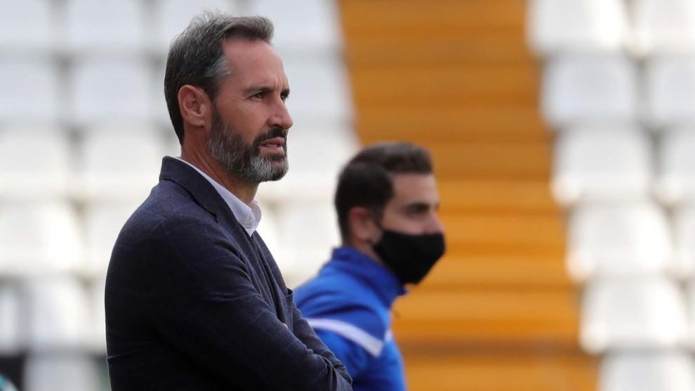 Vicente Moreno, durante el encuentro contra el Rayo.