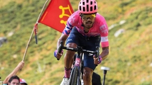 Daniel Felipe Martínez durante el Tour de Francia.