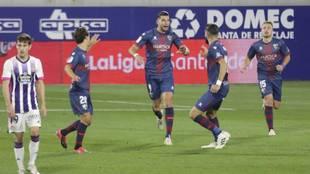 Rafa Mir celebrando el (1-2) frente al Real Valladolid