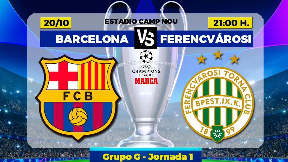Barcelona - Ferencvaros: horario, canal y donde ver en TV hoy el...