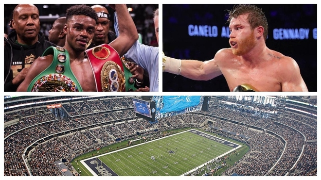 Errol Spence Jr., Canelo Álvarez y el AT&T Stadium de Dallas.