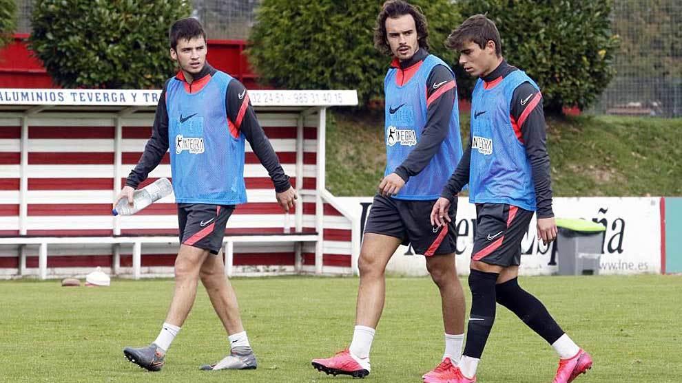 Guille Rosa, Pelayo Suárez y Pablo García, el pasado sábado en...