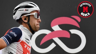 Vincenzo Nibali durante una etapa de este Giro de Italia