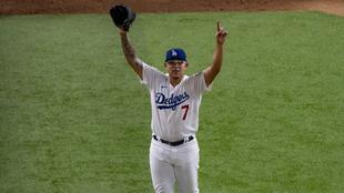 Julio Urías, lanzador mexicano de los Dodgers.