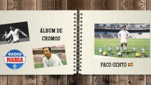 Paco Gento en el álbum de cromos de Marcador.