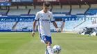 Sergio Bermejo en su presentación en el Real Zaragoza