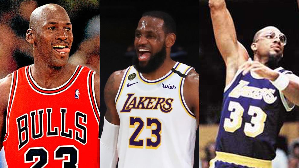 """Nuevo ninguneo a Jordan: """"LeBron y Jabbar son los mejores dentro y fuera de la cancha"""""""