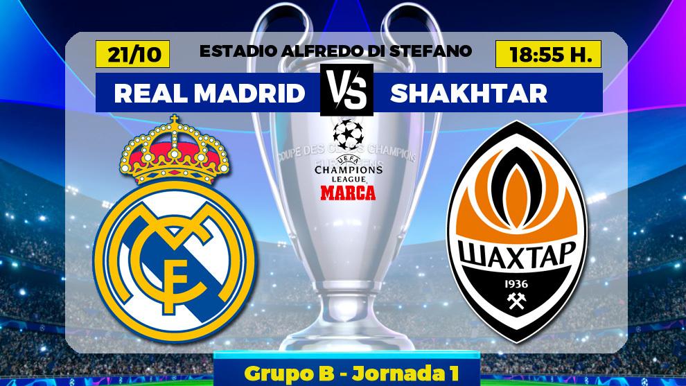 Real Madrid vs Shakhtar - Champions League today
