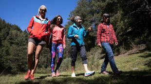 Las cuatro mujeres, en los bosques de La Molina (Cerdanya)