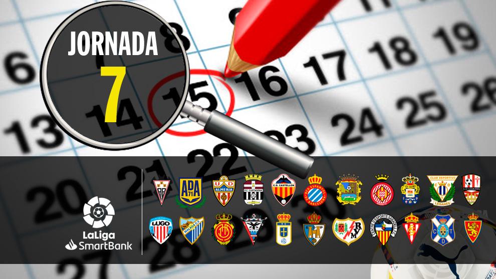 Partidos, horario y donde ver hoy en TV la jornada 7 de Segunda...