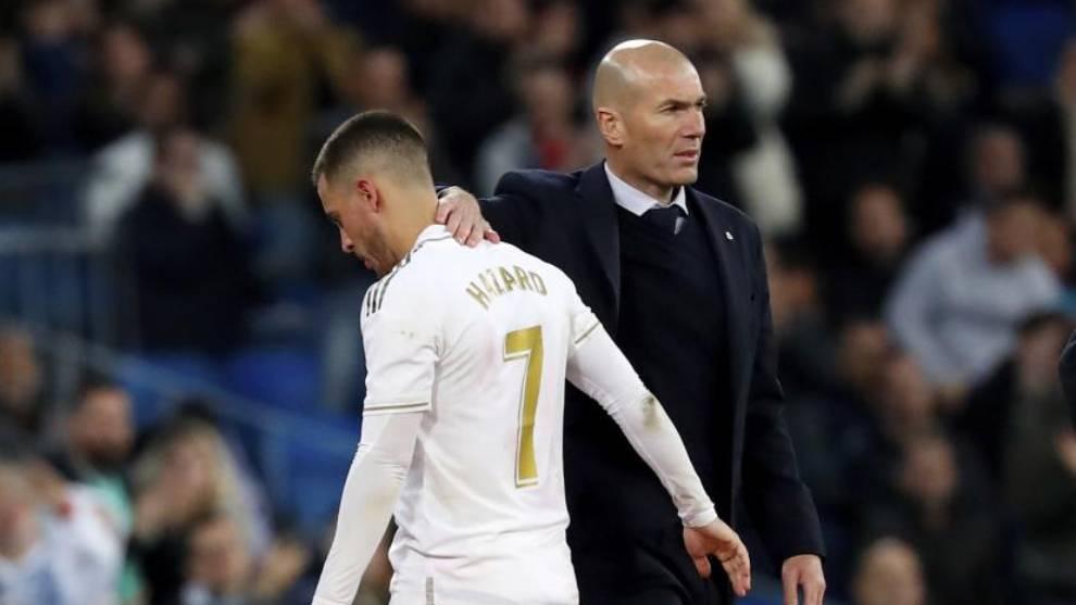 Eden Hazard and Zinedine Zidane.