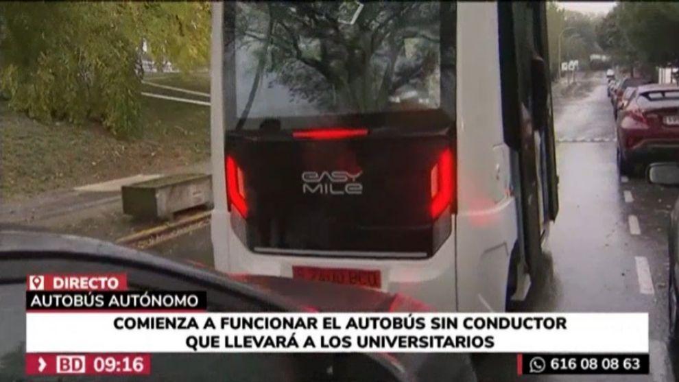 El autobús autónomo de la UAM sufre un accidente... el día de su estreno