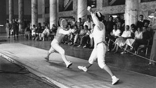 Pilar Roldán durante los JJ.OO de México 68