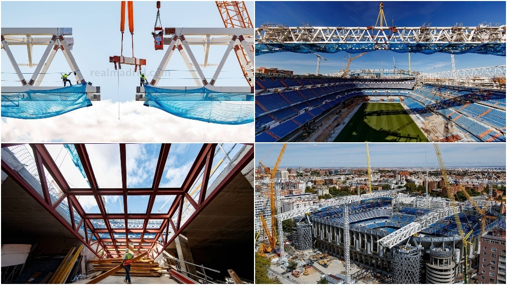 The construction work at the Bernabeu is advancing.