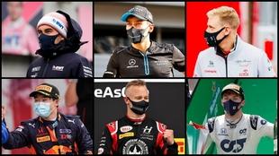 Pérez, Russell, Schumacher, Tsunoda, Mazepin y Gasly.
