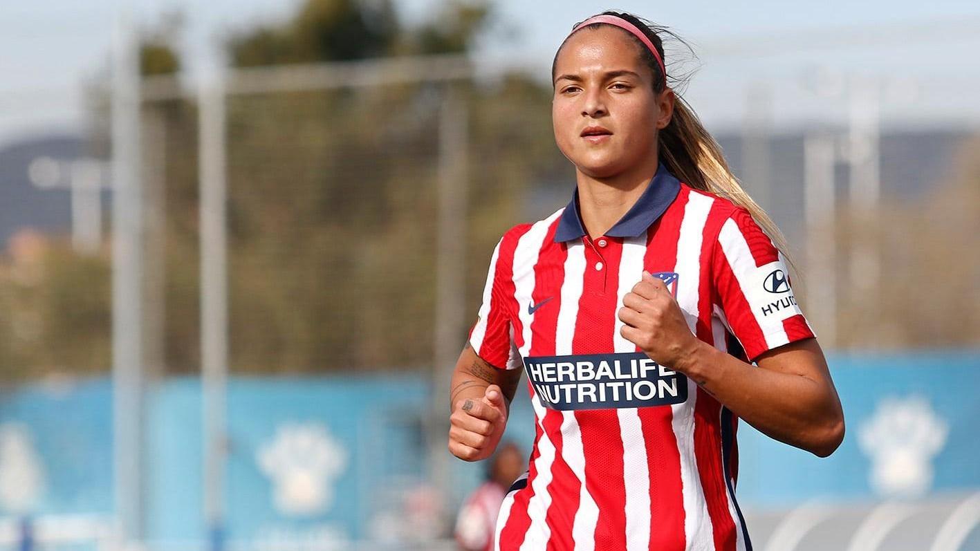 Deyna Castellanos, durante un partido con el Atlético de Madrid esta...
