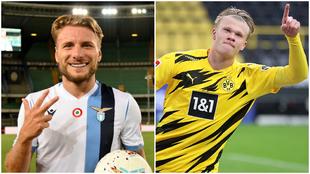Immobile y Haaland son las piezas clave de Lazio y Dortmund