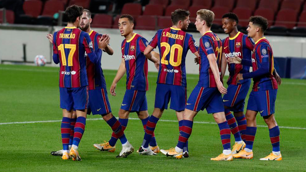 El uno a uno del Barcelona contra el Ferencvaros: Dest y Trincao prometen
