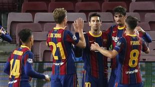 Messi asistió en dos goles