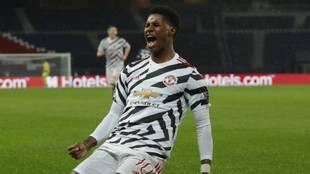 Marcus Rashford anotó el gol del triunfo para el United