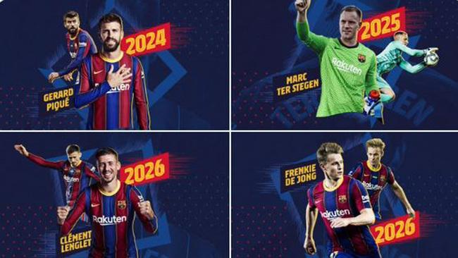 ¡El Barça renueva de una tacada a Piqué, Ter Stegen, Lenglet y De Jong!
