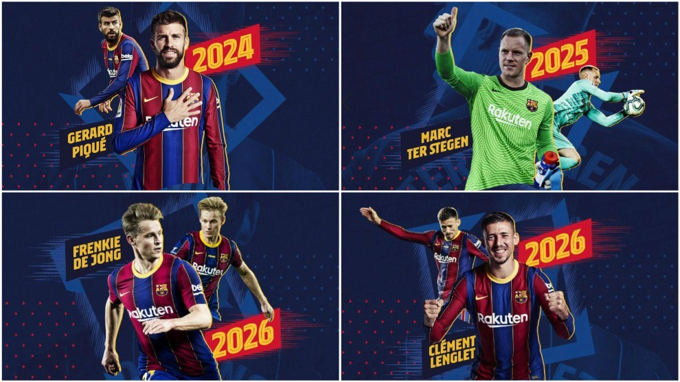 Barcelona renew four players' contracts at the same time!