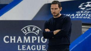 Frank Lampard (42), técnico del Chelsea, en el partido frente al...