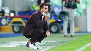 El técnico de Xolos de Tijuana durante un partido del equipo