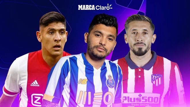 Edson Álvarez, Tecatito y Héctor Herrera, a escena en la Champions