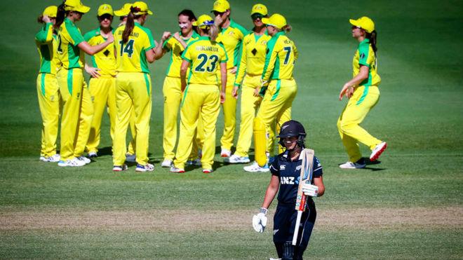 Un encuentro de cricket femenino