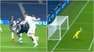 Iba a ser uno de los goles del año de Mbappé... y De Gea hace esto