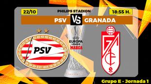 PSV Eindhoven - Granada: horario y donde ver en TV hoy el partido de...
