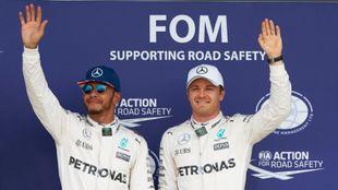 Lewis Hamilton y Nico Rosberg Extreme E