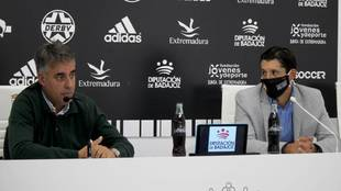 Joaquín Parra y Diego Jaramillo en la presentación del acuerdo.
