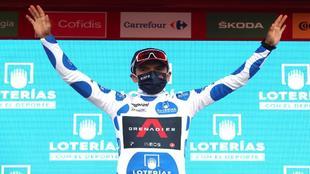 Richard Caparaz se ha vestido el maillot de la montaña en la etapa de...