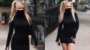 La modelo Lottie Moss sorprende con un vestido con mascarilla incluida