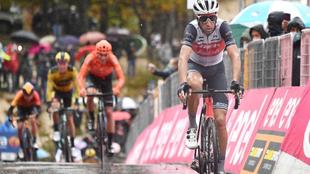 Nibali, durante el Giro de Italia 2020