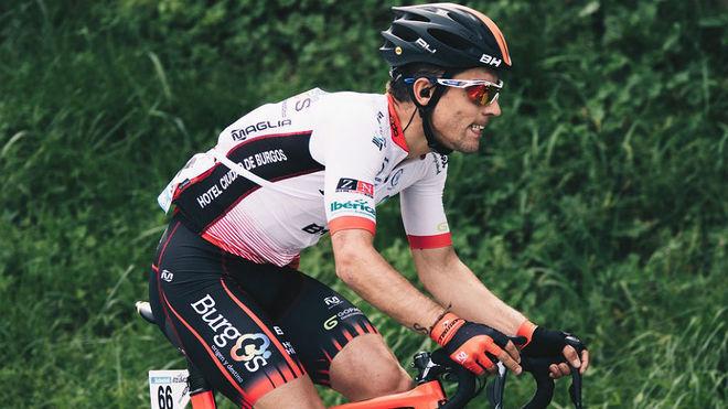 Ibai Salas en una etapa de la Vuelta al País Vasco 2018. @BurgosBH