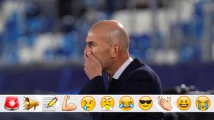 Zidane, en el banquillo