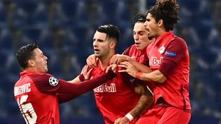 Szoboszlai celebra su gol al Lokomotiv Moscú