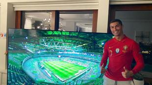 Cristiano Ronaldo se rapó