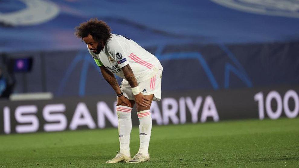 Marcelo, durante el partido ante el Shakhtar