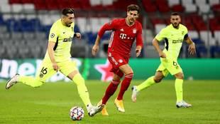 Héctor Herrera se equivocó en el segundo gol del Bayern Munich