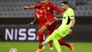 Herrera durante el partido contra el Bayern