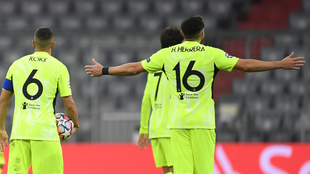 Koke y Héctor Herrera en la derrota del Atlético.