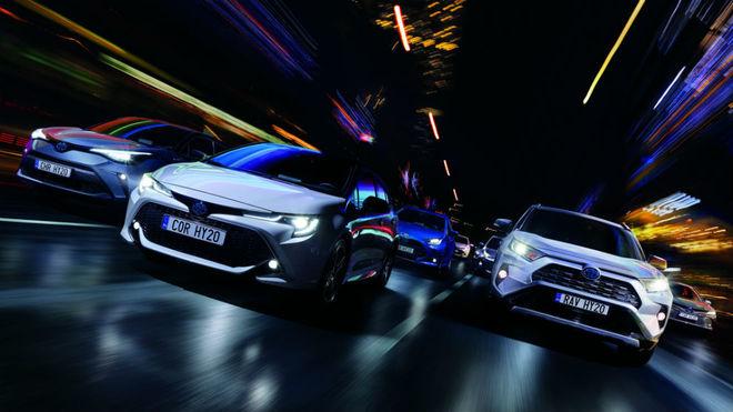 La gama híbrida de Toyota.