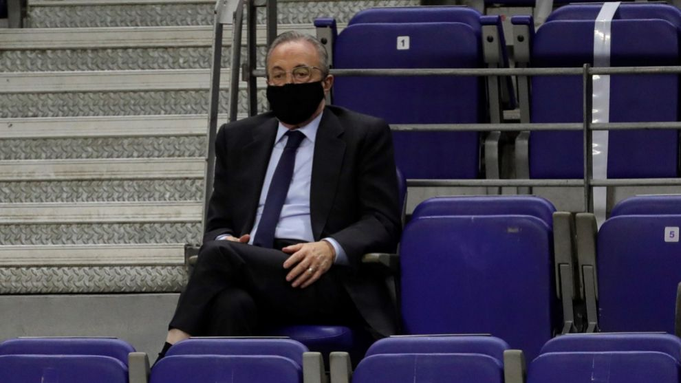 Florentino's three-minute visit to the dressing room