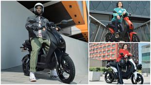 El Peugeot e-Ludix está disponible en cuatro colores diferentes.